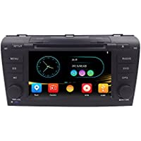 HIZPO 7 inch Double Din In Dash HD Touch Screen Car DVD Player GPS Navigation Stereo for Mazda 3 2004-2009 Support Bluetooth/SD/iPod/USB/FM/AM Radio RDS/3G/1080P/SWC