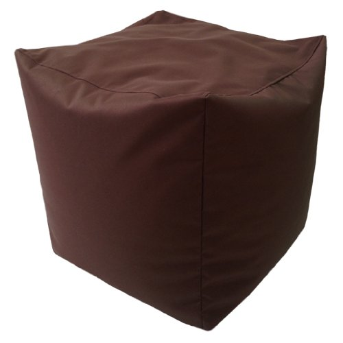 Ready Steady Bed Bean Filled Cube Pouffe Footstool in Brown. Ideal Relaxing, Seating, Lounging, Great Adults, Teens & Kids. Made from Water Resistant Material, Available in 8 Great Colours
