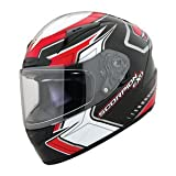 Scorpion EXO-R2000 Circuit Full Face Motorcycle Helmet Red