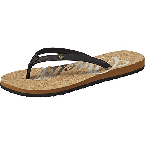O'Neill Oneill Womens/Ladies Logo Cork Flip Flops Black Out FPO5RuxGf