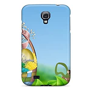 For Galaxy Case, High Quality Easter Basket Green Leaves For Galaxy S4 Cover Cases