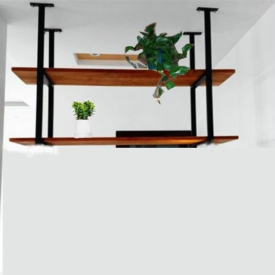 Rustic Kitchen Wood Wall Shelf,Wall Mounted Hanging Liquor Display Bar Shelves Wine Bottle Holder Rack Multi Use for Home Kicthen Coffee Storage & Organization Product (2-Layer L24'' D12''xH24.5'')