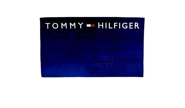 Tommy Hilfiger - Toalla de baño, toalla de playa Logo Mitternacht: Amazon.es: Ropa y accesorios