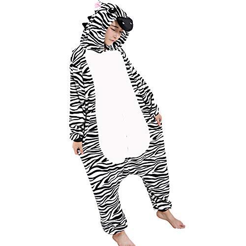 IINFINE Adult Onesies for Women Men One Piece Pajamas Halloween Costumes(Black-XL) ()