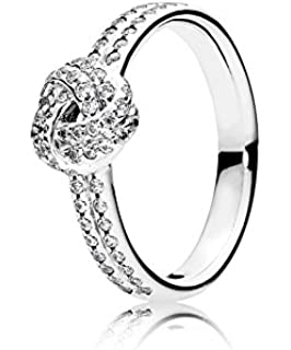 b506292ca PANDORA - Love Knot Ring Sparkling silver 925/1000 PANDORA 190997CZ - 52