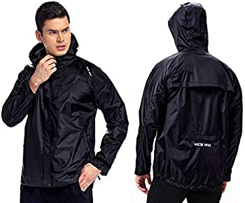 Nicewin Unisex Packable Rain Jacket in three colors
