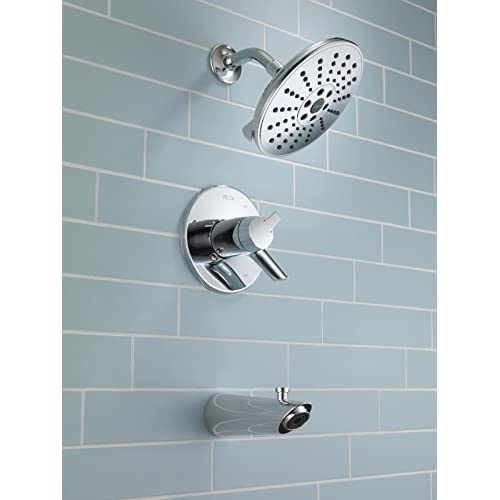on sale Delta Faucet T17T461-H2O Compel TempAssure 17T Series Tub & Shower Trim with H2Okinetic Technology, Chrome