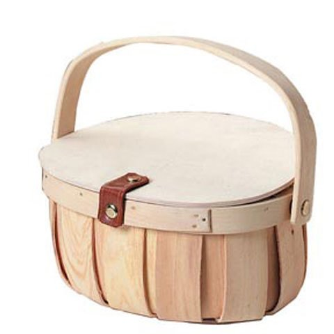 Bulk Buy: Darice DIY Crafts Chipwood Basket with Wood Lid 8 x 9 inches (36-Pack) 2844-41