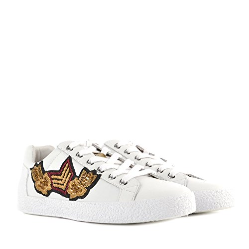 Ash NAK ARMS Trainers White Leather White/Gold VB8X2dcI