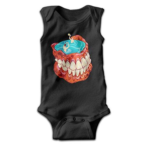 [BLUESPACE Denture Pool Baby Girls Boys Climb Romper Newborn Black] (Racer Girl Romper Costumes)