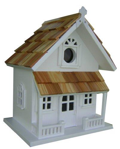 Home Bazaar Victorian Cottage Birdhouse, White