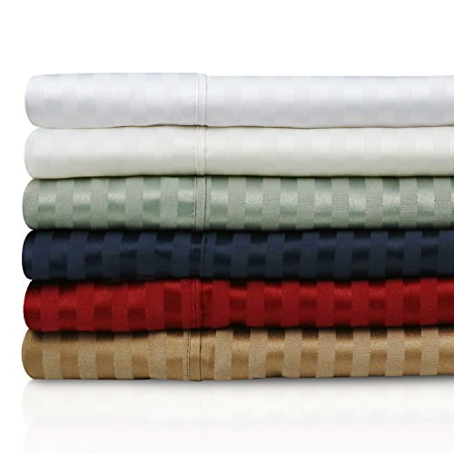 300 Thread Count Cotton Blend Deep Pocket Sheets - 3-Piece Bed Sheet Set - Ivory - Twin