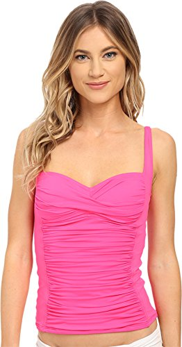La Blanca Women's Island Sweetheart Tankini Pinkberry Swimsuit Top 12