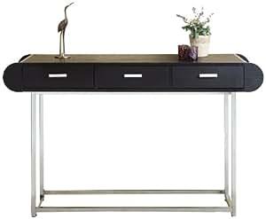 ioHOMES 3-Drawer Bella Modern Console/Sofa Table, Black