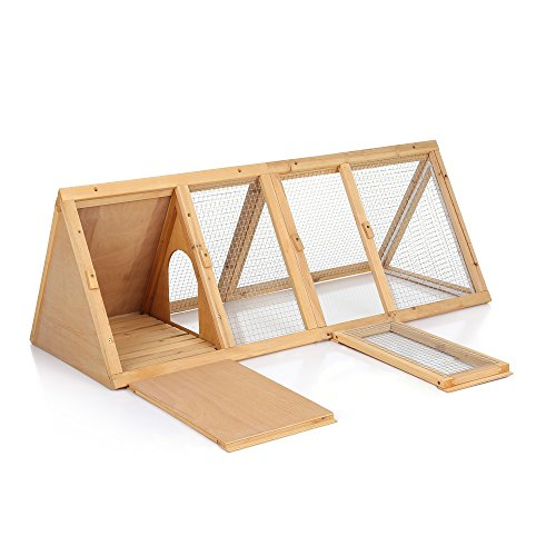 Ikayaa conigliera in legno all 39 aperto triangolo guinea pig for Conigliera in legno