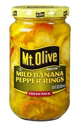 Banana Mild Peppers (Mt. Olive Mild Banana Pepper Rings - 12 Oz Jar (Pack of 3) by Mt. Olive)