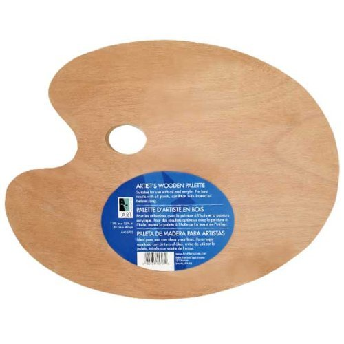 Oil Paint Palette - Wooden Palette 11.75x15.75 Oval