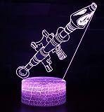 Night Light, 3D Illusion Lamp Optical Led Desk Lighting 7 Color Change for Kids Adult Birthday Christmas Gift (Rocket Bomb A)