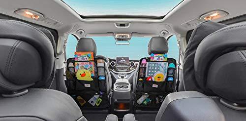 41eniI u7SL SURDOCA Autositz-Organizer – 4th Generation verbesserter Auto-Organizer Rücksitz für bis zu 10,5 iPad, 9 Taschen…