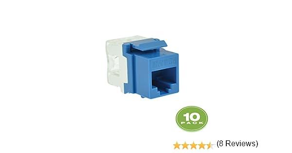 Mediabridge Cat5e Keystone Jack (Azul) – Impacto RJ45 Insert para Keystone Placa de Pared – 10 Unidades (Parte # 51j-c5-blu-10pk): Amazon.es: Informática
