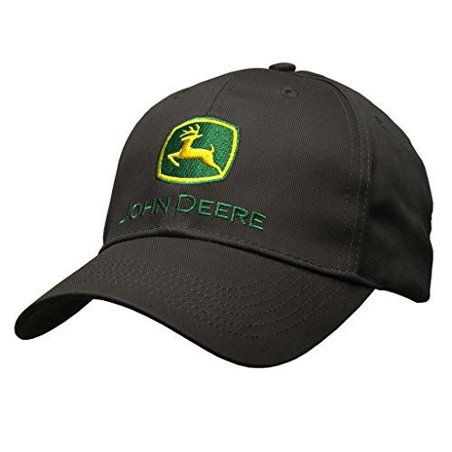 John Deere Memory-Fit One-Size Fitted Hat (Black) ()