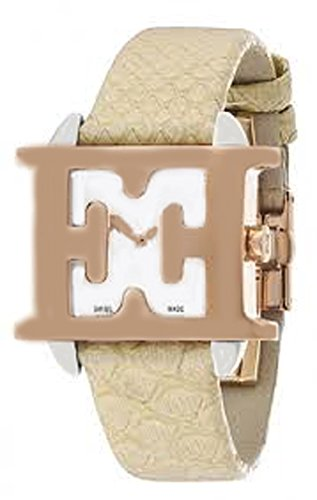 ESCADA Estelle Mother of Pearl Dial Beige Snakeskin Leather Strap Women's Watch E2030045
