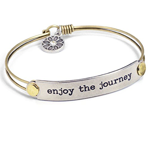 Enjoy the Journey Inspirational Bracelet by Sweet Romance, Quote Jewelry, Message Bracelet, Inspiration Jewelry, Gift for Her, Graduation Gift