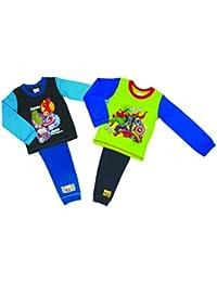 2 Pack Marvel Avengers Cartoon Boys Pyjamas 4 Piece Size 18 Months - 5 Years