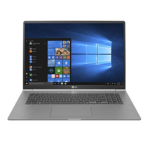 "LG Gram Thin and Light Laptop - 17"" (2560 x 1600) IPS Display, Intel 8th Gen Core i7, 16GB RAM, 512GB SSD, up to 19.5 Hour Battery, Thunderbolt 3 - 17Z990-R.AAS8U1 (2019)"