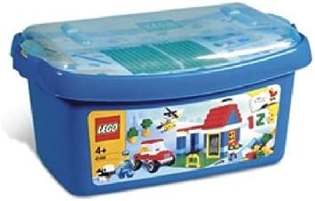 LEGO Caja grande de ladrillos - 6166 + Placa de base gris (38x38 cm): Amazon.es: Juguetes y juegos