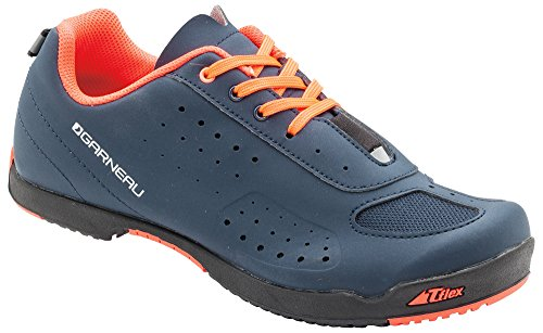 Louis Garneau Women's Urban Bike Shoes, Dark Night/Coral Mania, US (8), EU (39)