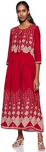 Amazon Brand – Myx Women's Relaxed Kurta Dress