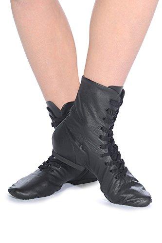 Roch Valley filles Split à semelles Jazz Bottes en noir–Taille 2À 5,5L