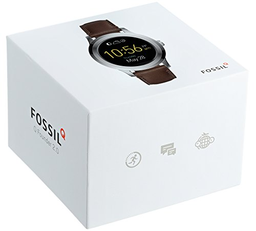 Fossil Q Founder Gen 2 Dark Brown Leather Touchscreen Smartwatch FTW2119 by Fossil (Image #4)