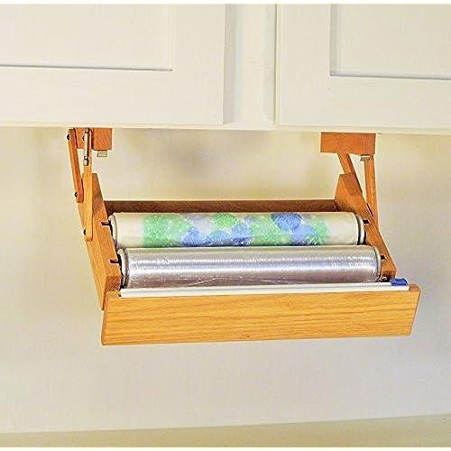 Wonderful Ultimate Kitchen Storage Under Cabinet Cling Wrap Dispenser