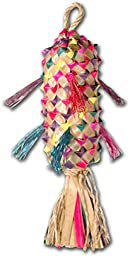Planet Pleasures Spiked Pinata Natural Bird Toy, Medium/11\