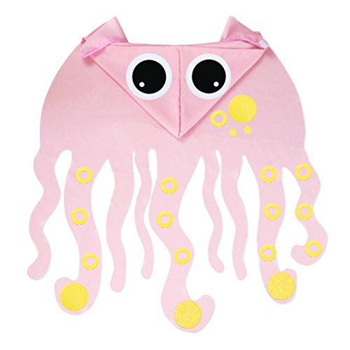Kids Toddlers DIY Cute Octopus Costume Cape-Ocean Animal Party Dress up Gifts (Pink)