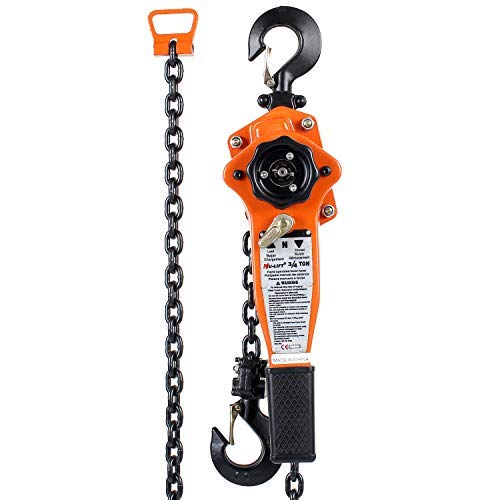 (Amarite Manual Lever Chain Hoist, 10 feet Load Chain with 1650lbs Capacity)