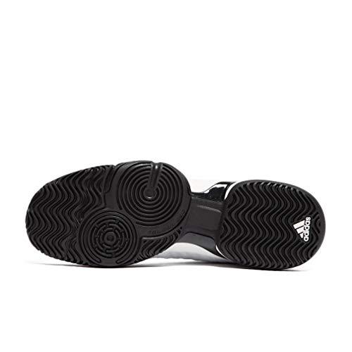 adidas Barricade 2018 Xj, Zapatillas de Tenis Unisex niños Blanco