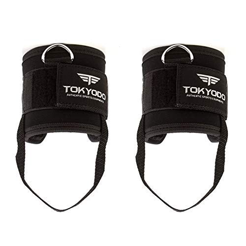 TOKYODO Adjustable Ankle Straps with D-Ring for Cable Machines and Resistance Trainers – Ideal for Kickback, Leg…