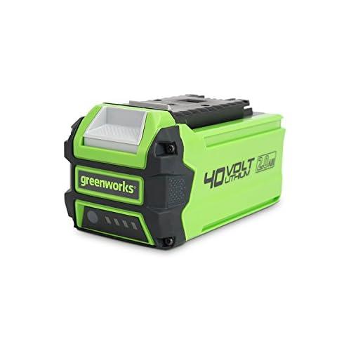 chollos oferta descuentos barato Greenworks Batería G40B2 2ª generación sistema de carga rápida de Li Ion 40V 2 Ah sin autodescarga apto para todos los dispositivos y baterías de la serie 40V de Greenworks Tools