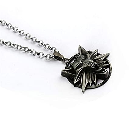 Amazon.com: FITIONS - The Witcher 3 Wild Hunt Necklace Wolf ...