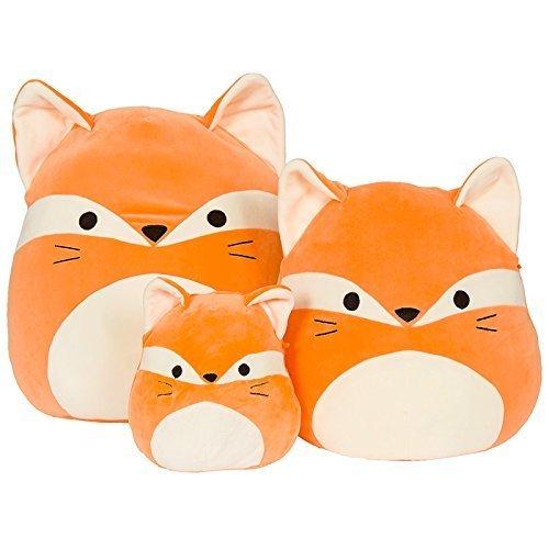 Kellytoy Squishmallow 16'' James The Orange Fox Super Soft Plush Toy Pillow Pet Pal Buddy