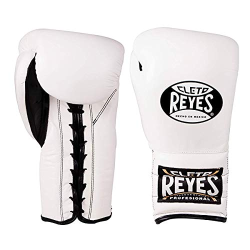 - Cleto Reyes Traditional Training Gloves with Laces Unisex (16oz, White)