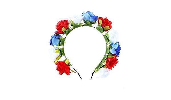 Folewr-8 - Diadema Artificial con Flor de Navidad para Mujer ...