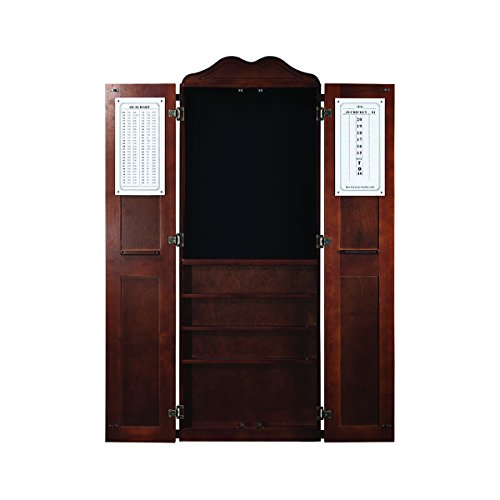 RAM Gameroom Dartboard Cabinet Cue Holder - Chestnut