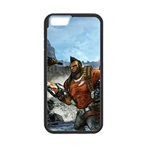 Popular And Durable Designed TPU Case With Borderlands 2 iPhone 6 4.7 Inch Cell Phone Case Black