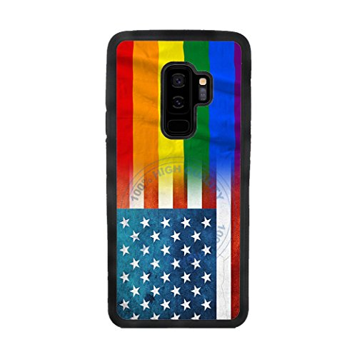 BleuReign(TM) LGBT and Cracked USA Mixed Flag TPU RUBBER SILICONE Phone Case Back Cover For Samsung Galaxy (Awareness Iphone 4 Covers)