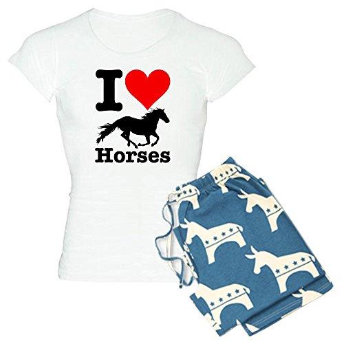 - CafePress - I Heart Horses - Womens Novelty Cotton Pajama Set, Comfortable PJ Sleepwear