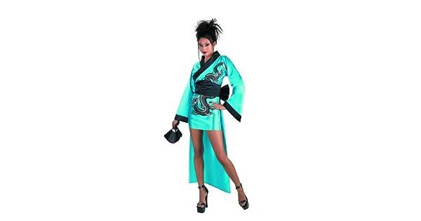 Amazon.com: Disfraz de la mujer dragón Geisha Disfraz: Clothing